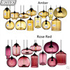 Creative Modern Simple Colorful Glass Pendant Lights Restaurant Bar Cafe Decorative Lighting Fashion Lamps