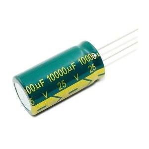 Image 3 - 100 шт. ~ 20 шт. 25V10000UF 10000 мкФ 25V высокочастотные низкостойкие электролитические конденсаторы размером: 18*35 мм, лучшее качество, новинка origina