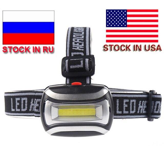 ZK20 Dropshipping Mini COB LED Waterproof 600LM Headlight 3xAAA Headlamp Bike Bicycle with Headband for Camping Stock in US,RU