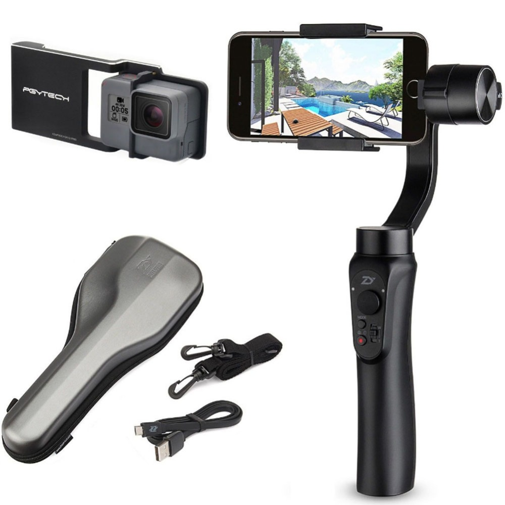 Selfie Sticks & Handheld Gimbal Portable Stabilizer or with Remote SMOOTH Q Handheld Gimbal for Smartphone Wireless Control Vert yuneec q500 typhoon quadcopter handheld cgo steadygrip gimbal black