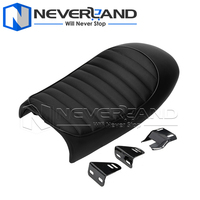 Synthetic Leather Motorcycle Seat Covers Hump Custom Cafe Racer Vintage Seat Cushion for Harley Bobber D20