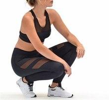 Plus Size Mesh Fitness Sports Leggings