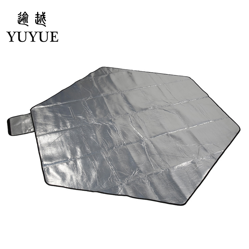 Big size picnic mat high quality suede aluminum file waterproof for tourist camping tent fishing picnic camping mat 2