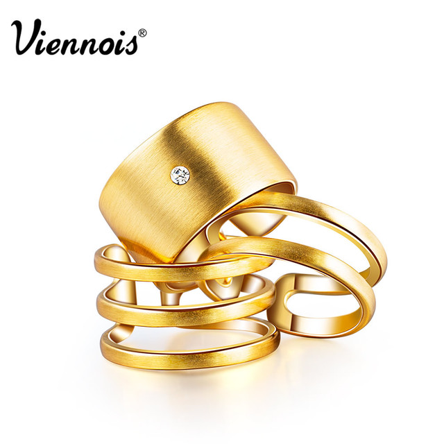 Hot Viennois Fashion Jewelry GP Gold & Silver Plated Triple Layer Wedding Engage