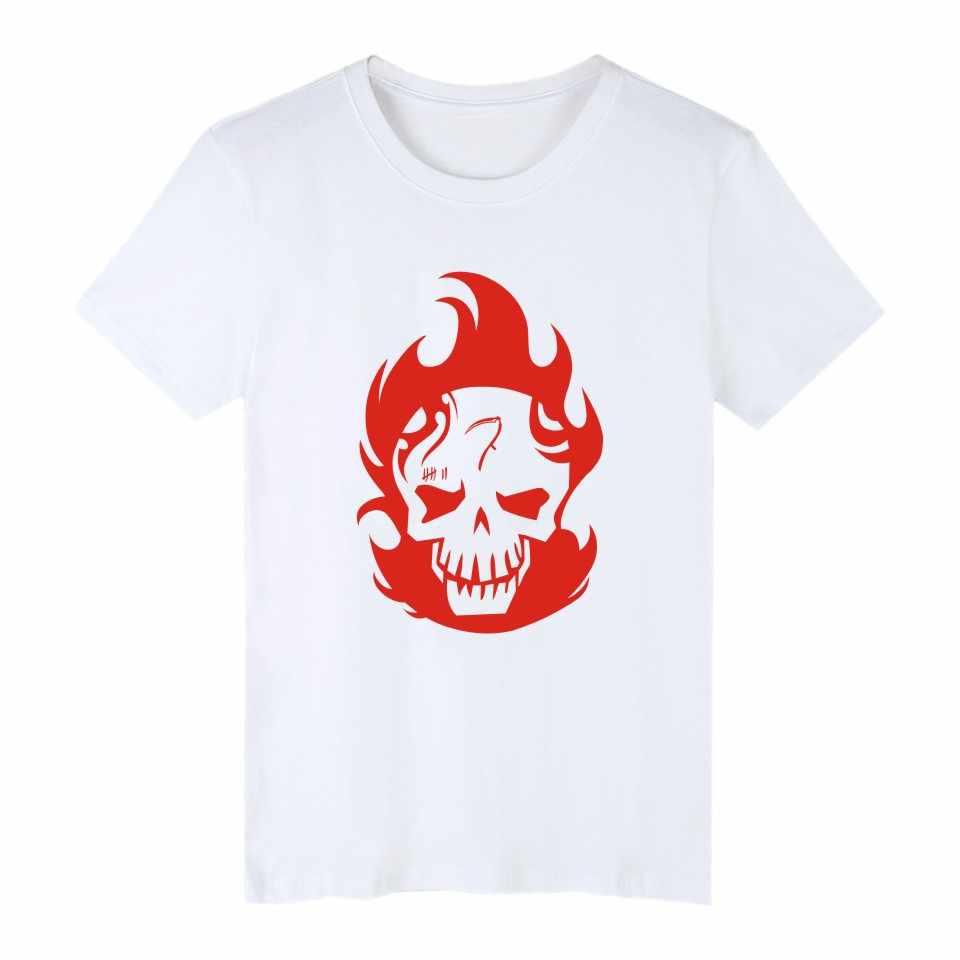Aikooki/летние весенние футболки с короткими рукавами Джокер Отряд Самоубийц мужские футболки Харли Куинн забавные хлопковые футболки с супергероями