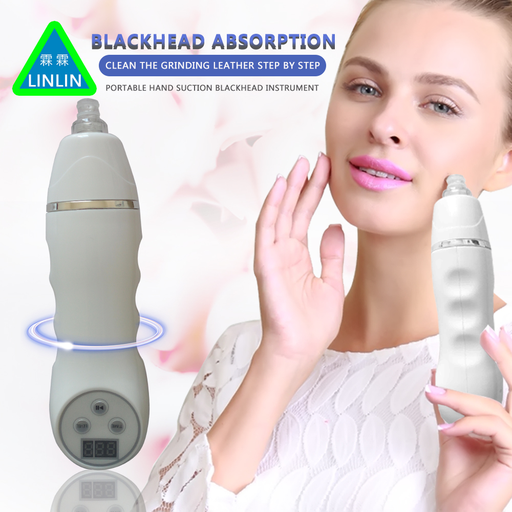 LINLIN Clean Blackhead Vacuum Suction Remove Machine Facial Pore Cleaner Diamond Dermabrasion Device Skin Peeling Acne comedones led blackhead remover pore suction cleanser diamond dermabrasion device