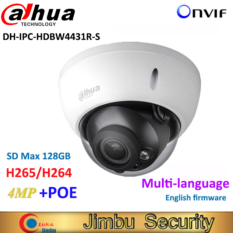 Dahua 4MP IP Camera IPC-HDBW4431R-S replace IPC-HDBW4421R HD Network IR cctv Dome IP CCTV Camera POE DH-IPC-HDBW4431R-S dahua h 265 ip camera ipc hdbw4631r s replace ipc hdbw4431r s 6mp poe cctv camera 30m ir 1080p network camera onvif sd card slot