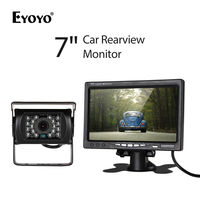 EYOYO 7 inch Car LCD Monitor DC12V 800*480 With IR Rear View Camera Kit For Bus Truck 10m Cable 18PCS IR LED