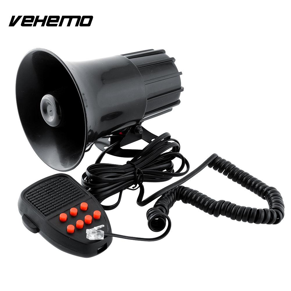 Vehemo New 12V 7 Sounds Car Motorcycle Speaker System Van Truck Siren Horn For Cop Police Constable High quality