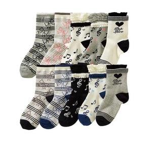 Image 5 - 10 pairs/lot  4 12 years girls socks cartoon floral children kids socks cotton high quality