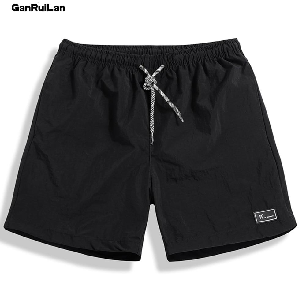 2018 New Summer Shorts Men Breathable Casual Shorts Mens Bermuda Knee Length Elastic Waist Beach Shorts Male Big Size DK18005