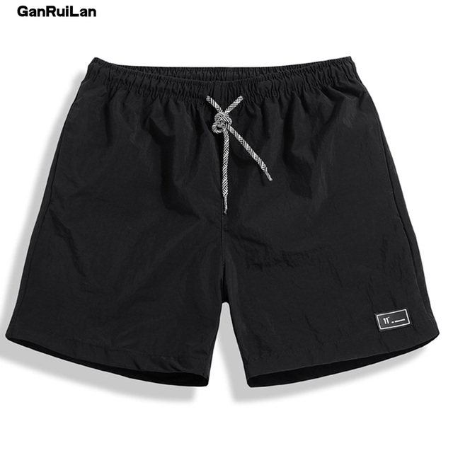 2018 New Summer Shorts Men Breathable Casual Shorts Mens Bermuda Knee Length Elastic Waist Beach Shorts Male Big Size DK18005