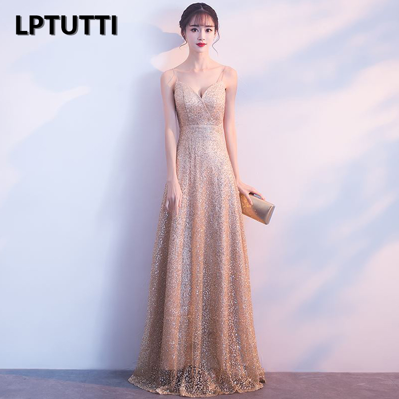 LPTUTTI Sequin Plus Size New For Women Elegant Date Ceremony Party Prom Gown Formal Gala Luxury Long   Evening     Dresses   15