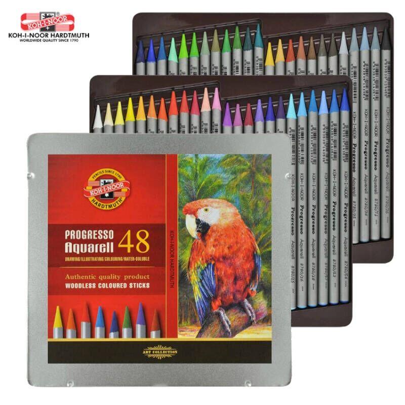Crayon de couleur soluble dans leau de KOH-I-NOOR de plomb de couleur sans bois joyeux 12 & 24 & 36 & 48Crayon de couleur soluble dans leau de KOH-I-NOOR de plomb de couleur sans bois joyeux 12 & 24 & 36 & 48