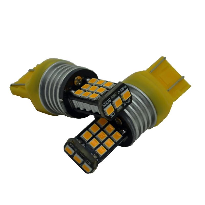 10 Pcs T20 W21W LED W21/5W LED 7440 7443  21SMD LED Bulb for Car Turn Signal Brake Reverse Parking DRL Fog Light Lamp 2x t20 7443 7440 w21 5w w21w creechip bulb 6000k white auto car led for brake light reverse turn signal light dc12v 24v