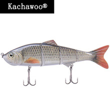 4 Segments Artificial Bait for Fishing Jointed Minnow Lure Lifelike Fishing Lures Plastic Fishing Wobblers for Trout 6