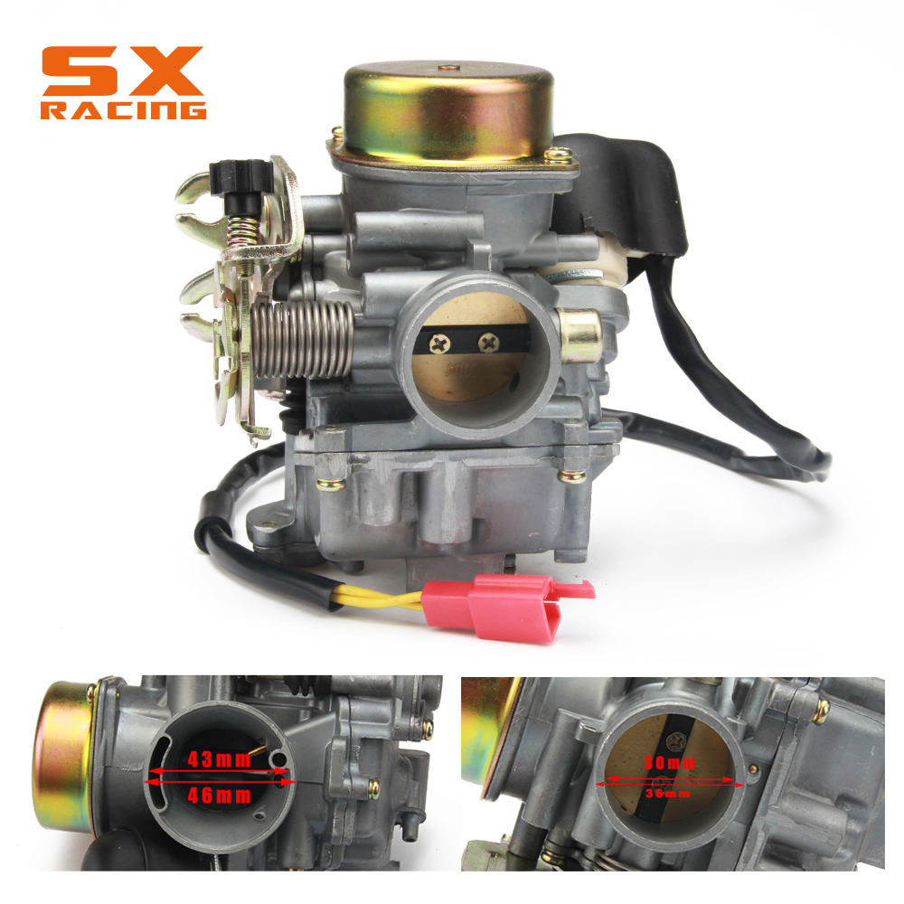 30mm CVK30 Motorbike Motorcycle Carburetor Carb For ATV Scooter GY6 150 VOG TANK 260 200 250CC Motor Bike alconstar cvk30 carburetor with heater for aeolus vog atv utv tank 260 yp250 xy260t linhai 260 scooter for honda for yamaha