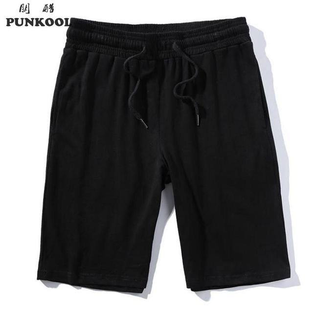 a14c8c699 PUNKOOL Plus Size 5XL Casual Sweat Shorts Men Knee-length Eleastic Cotton  Joggers Shorts Men Thin Jersey Bodybuilding Shorts