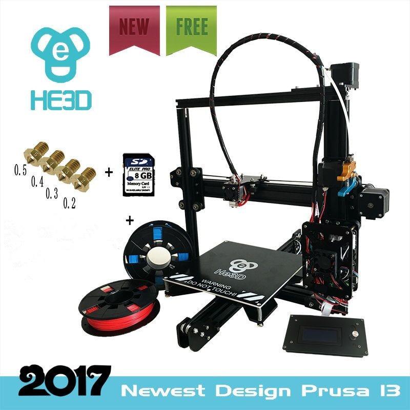 2017 the Newest design I3 Aluminium Extrusion 3D Printer kit printer 3d printing 2 Rolls Filament