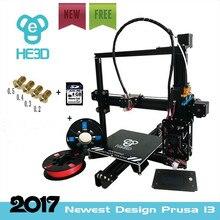 2017 Новый дизайн I3 алюминиевого профиля 3D-принтеры комплект принтер 3D печать 2 рулона нити 8 ГБ SD карты ЖК-дисплей как подарок