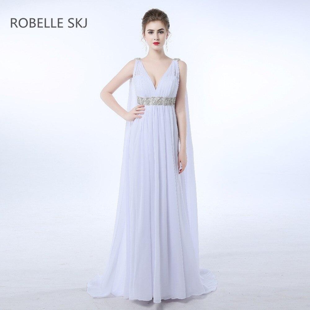 US $11.11 211% OFFChiffon v ausschnitt Strand Hochzeit Kleid Gothic  Griechischen Stil Boho Hohe Taille geeignet für Schwangere Mutterschaft  Vestidos de