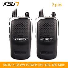 2PCS BUXUN X-36TFSI Walkie Talkie 8W Dual Band Portable Radio UHF400-480MHz CB Radio
