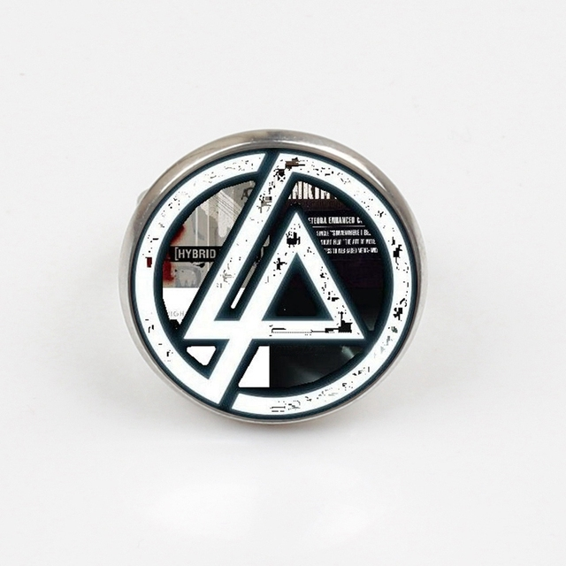 Us 0 85 43 Off 2019 Hot Fashion Linkin Park Logo Ring Linkin Park Jewelry Glass Ring Dome Ring Men And Children Party Gifts In Rings From Jewelry