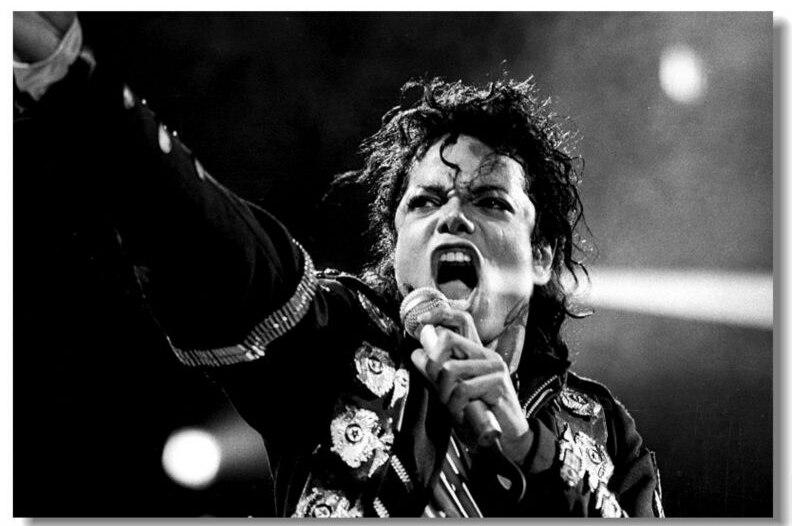 Michael Jackson Canvas Fabric Poster MJ Pop Classic Fashion Movie Style Custom Poster Print Wall Art Fabric