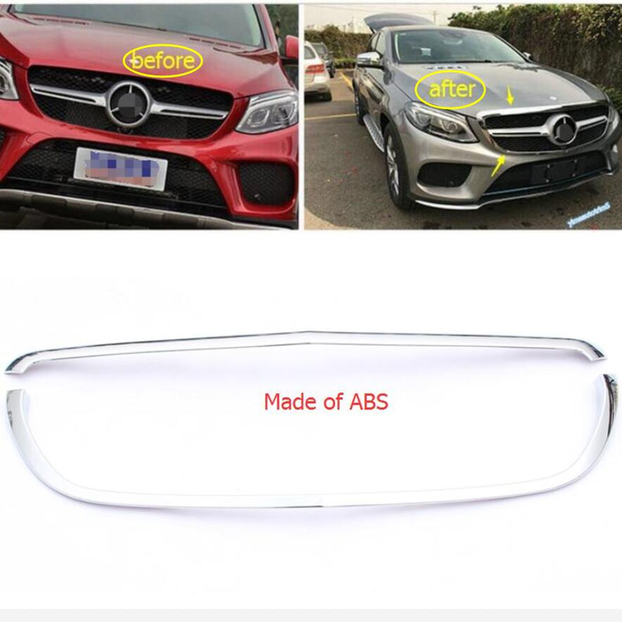 Chrome Front Central Face Grille Grill Protection Lid Frame Cover Trim 2 Pcs For Mercedes Benz GLE ( W116 ) 2015 - 2018 ExteriorChrome Front Central Face Grille Grill Protection Lid Frame Cover Trim 2 Pcs For Mercedes Benz GLE ( W116 ) 2015 - 2018 Exterior