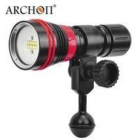 ARCHON D26VR 2000 люмен белый и красный светодиодный Дайвинг Подводные фото видео светодиодный фонарик для подводного плавания факел