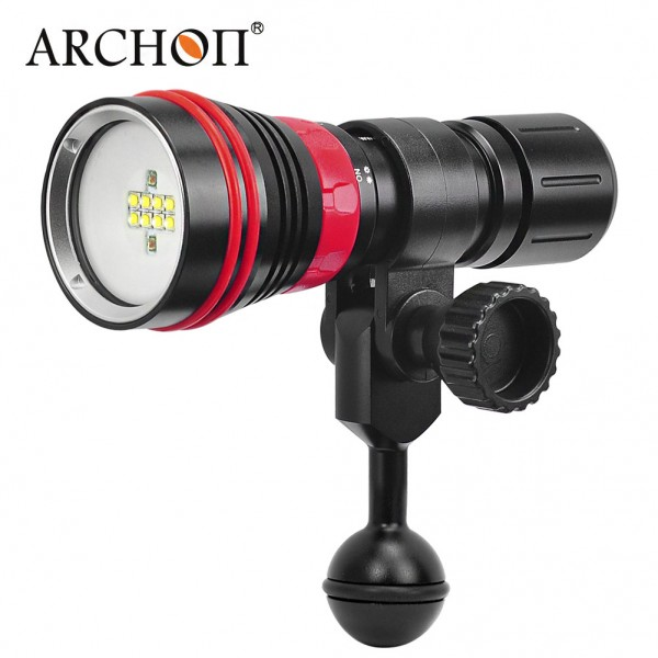 ARCHON D26VR 2000 Lumen White and Red LED Scuba Diving Underwater Photography Video Led Light Diving Flashlight Torch 1pcs water cooling block 50x50x12mm 1pcs cooler peltier tec1 12706