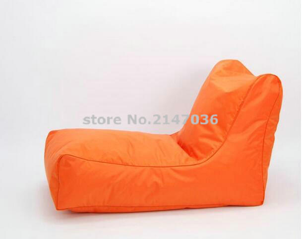 Outdoor Bean Bag orange seat , waterproof big relax cushion ,travel beanbag