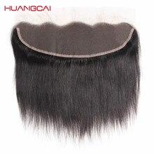 Huangcai бразильские кружева Фронтальная Накладные волосы прямые Человеческие волосы 13×4 с ребенком волос один Комплект уха до уха не remy 8-18 дюймов