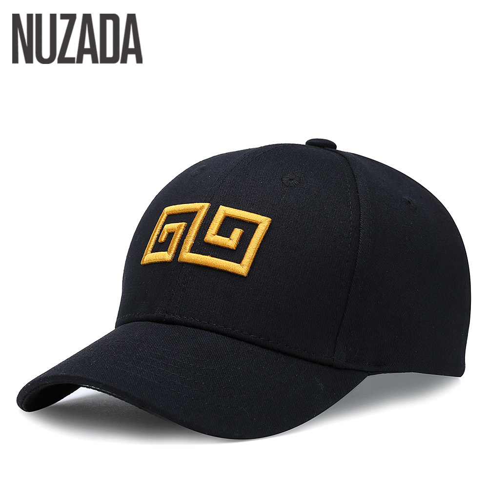 Brand NUZADA Chinese Wind Embroidery Men Women Baseball Cap Bone Spring Summer Autumn Caps Cotton Adjustable Hats Snapback brand nuzada classic solid color baseball cap for men women couple bone high quality cotton hip hop caps spring summer hats