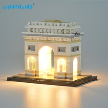 LIGHTALING Led Light Kit For Architecture Arc De Triomphe Lighting Set Compatible With 21036 17012 (NOT Include The Model) недорого