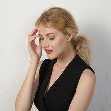 Vnox Temperament Perla Simulada Stud Pendientes para Mujer Gold Tone Brincos Femininos Dating Party Jewelry