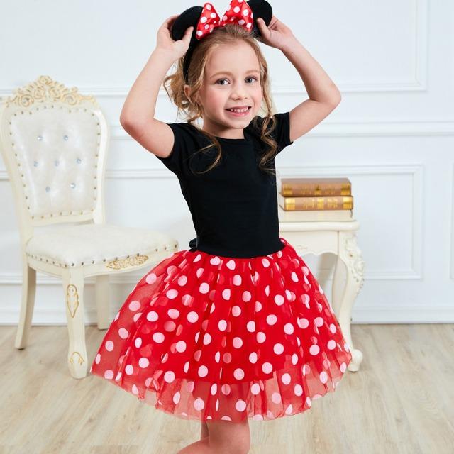 Fancy 1 rok urodziny sukienka na Halloween Cosplay Minnie Mouse Ubierz dziecko kostium Baby Girls Odzież dla dzieci 2 6T Wear