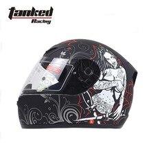 2017 новый немецкий tanked racing мотокросс мотоциклетный шлем abs t112w мотоцикл каски теплая зима с шарфом размер Ml XL