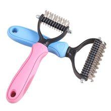 Cão de estimação pele nó cabelo cortador remover ancinho grooming escova pente lâmina de metal machuras cachorro chien perros honden hond dropshipping