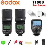 2x Godox TT600 TT600S 2,4G Беспроводной ttl HSS Вспышка Speedlite + Xpro C Xpro F электронных сигарет, Современная замена, Xpro N ttl вспышка триггера для цифровой зеркал