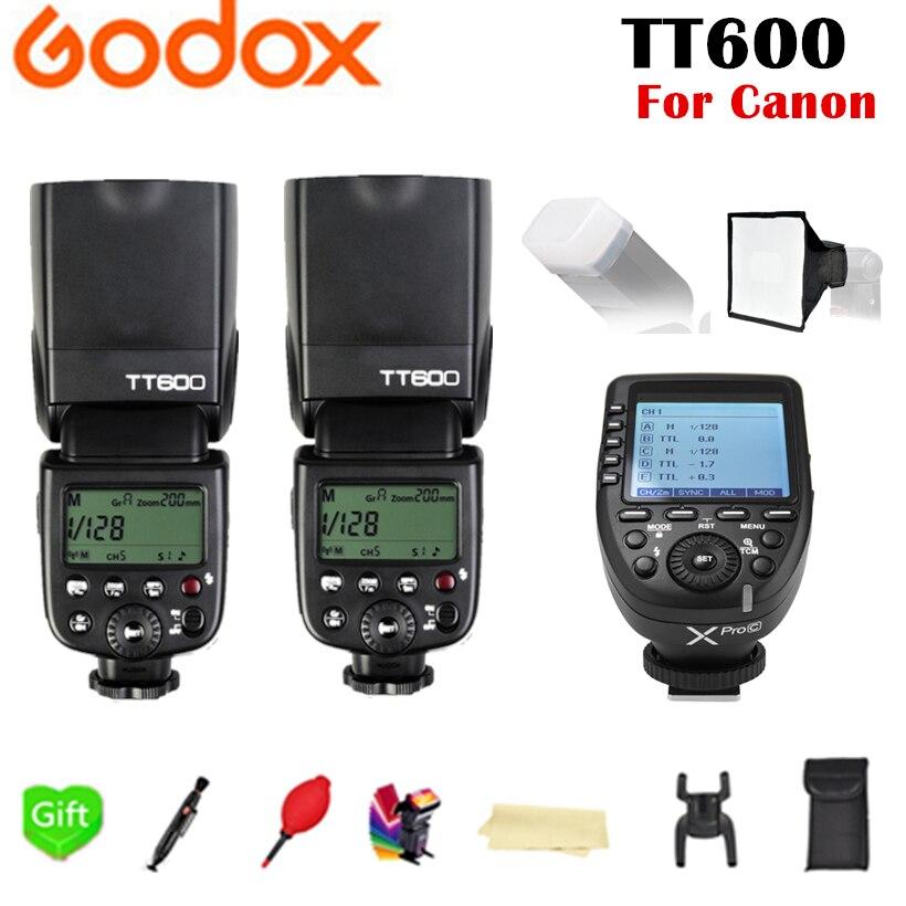 2x Godox TT600 TT600S 2.4G Wireless TTL HSS Flash Speedlite + Xpro-C Xpro-F Xpro-N TTL Trigger per Canon Nikon Fujifilm fotocamera