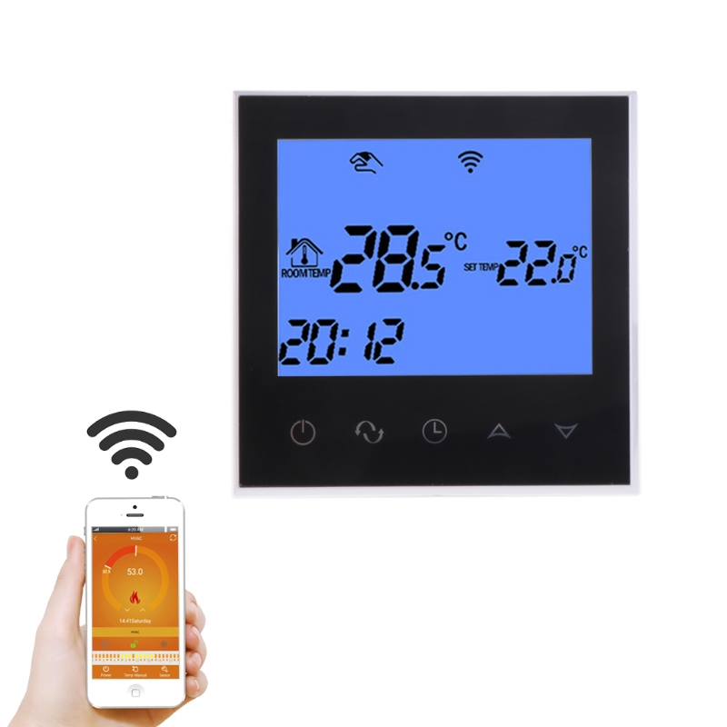 WiFi Thermostat Remote Control for Electric Floor Heating 12/16A Underfloor Infrared Heater Temperature Control floor heating thermostat temperature control switch electric film thermostat electric geothermal uth 170r