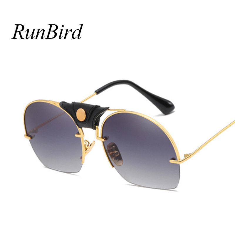 Half Metal Frame Men Sunglasses Classic Retro Vintage Sun glasses Women Brand Designer Sunglasses Women Top Quality UV400 1519T