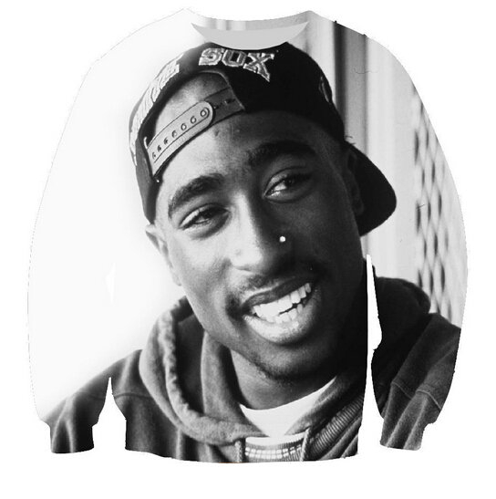 2017 New fashion men/womens pullover hip-hop hoodies print 2pac tupac 3d sweatshirt long sleeve crewneck casual sweats top