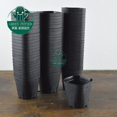 6.3cm octagonal square pots succulents nursery box black and white 70 / bag