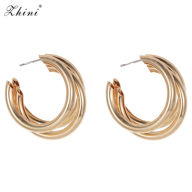 ZHINI Boho New Fashion Statement Earrings Jewelry Special Hot Sale Wedding Gifts Wholesale Metal Retro Stud Earrings For Women