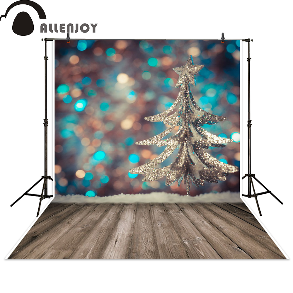 Allenjoy photo backdrops Christmas tree bokeh wooden floor photography backgrounds photocall photographic photo studio allenjoy backdrop spring background green grass light bokeh dots photocall kids baby for photo studio