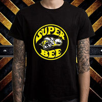 スーパー蜂ロゴヴィンテージダッジクラシックマッスルカーメンズブラックtシャツサイズsに3xl