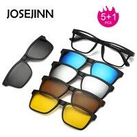 5 1 Suit Multi Function Clip On Sunglasses Men Magnetic Clip Sunglasses Magnet Eyeglasses Clip Optical