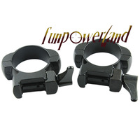 Rifle Steel Weaver Mount 30MM Medium Profile Black Quick Detach Mount Rings